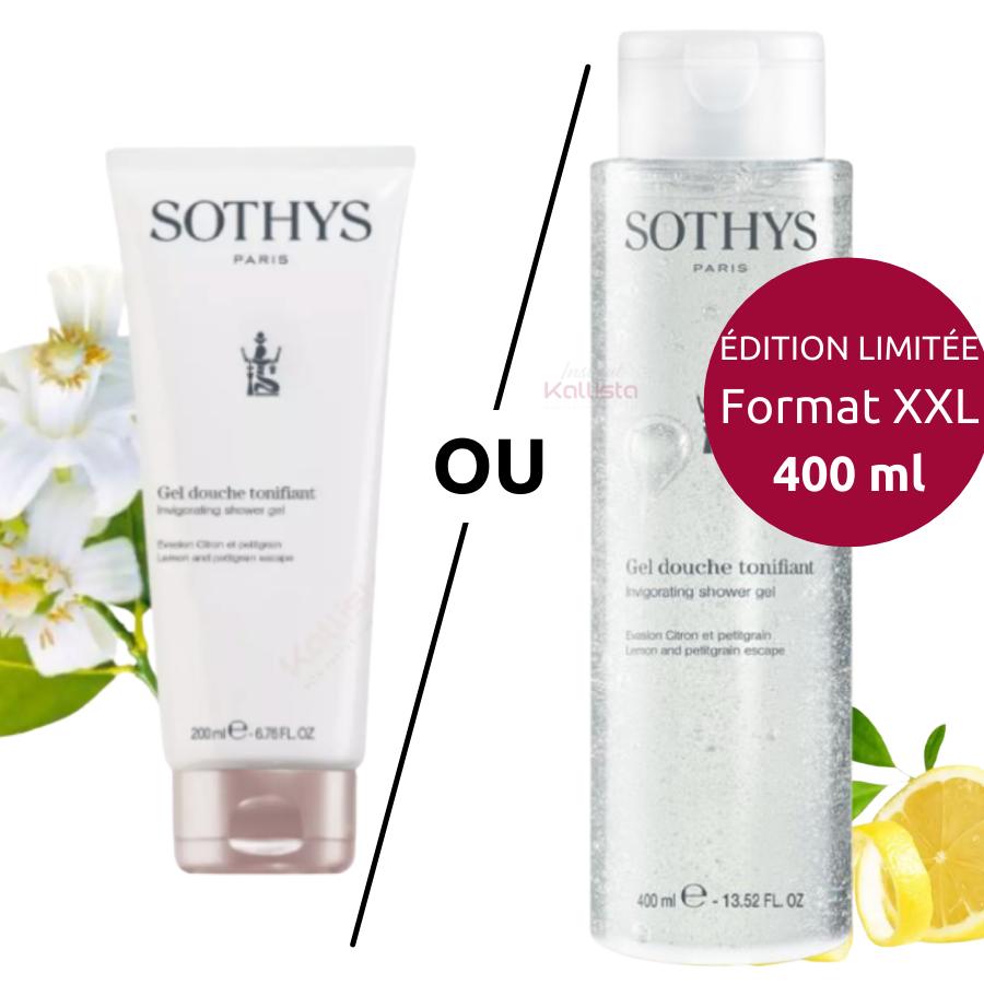 Gel douche Sothys - Citron et Petitgrain : Gel de douche aux notes fraiches et héspéridées
