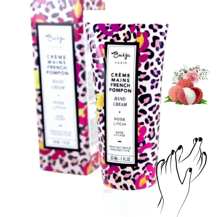 Crème mains Baija - Rose et Litchi - French Pompon