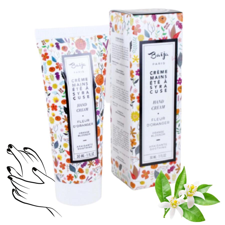 Crème mains Baija - Fleur d\'oranger - Été à Syracuse