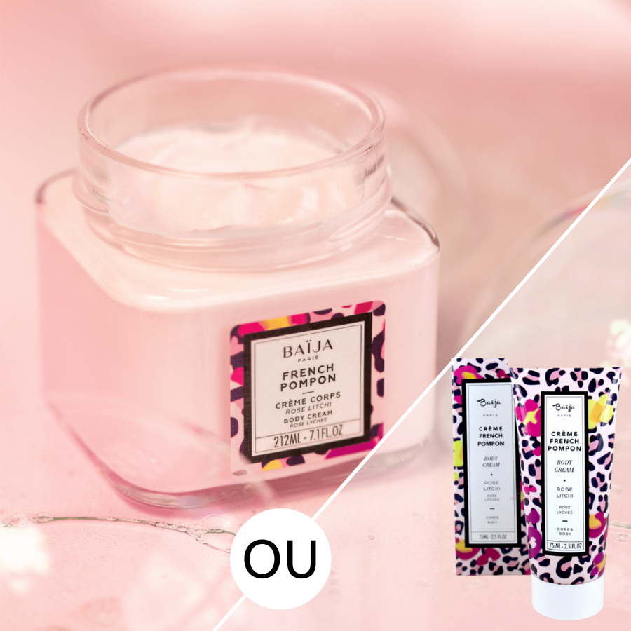 Crème hydratante corps Rose et LitchiFRENCH POMPON Baija