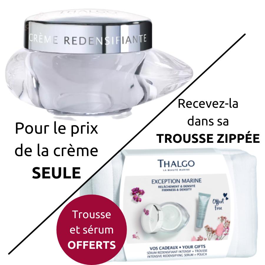 Crème Redensifiante Thalgo - Exception Marine : 2 textures au choix, remodèle l\'ovale et nourrit intensément