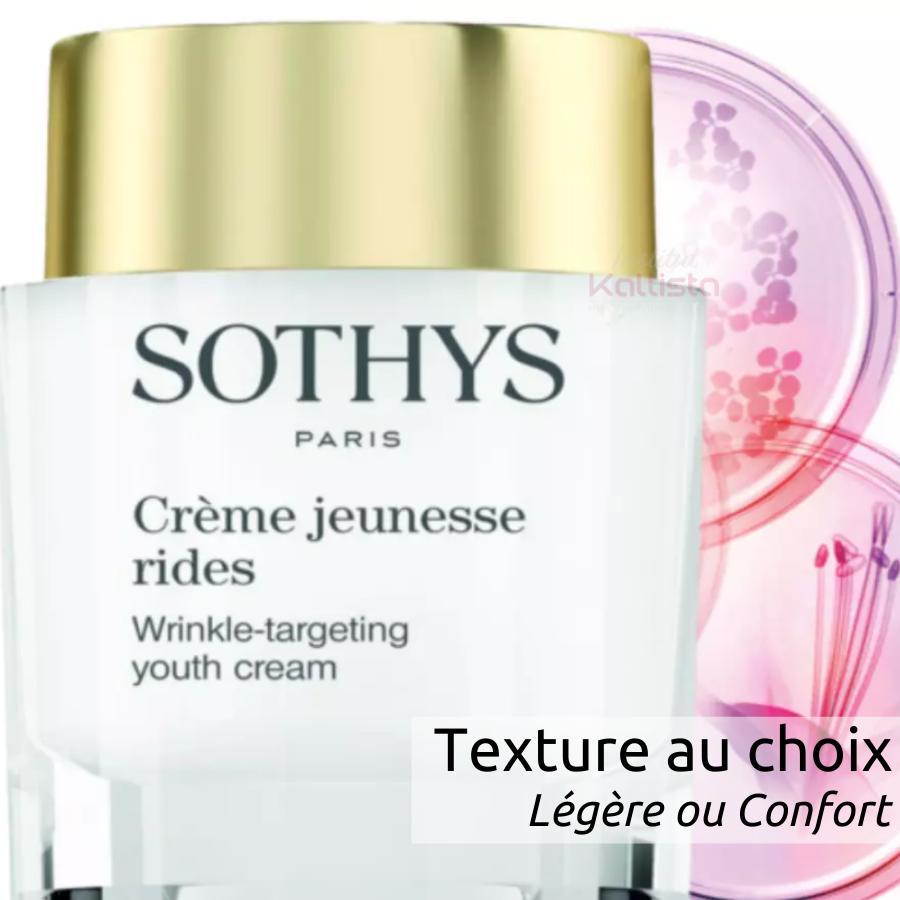 Sothys Crème jeunesse rides - Lissage des rides et maintien de la tonicité