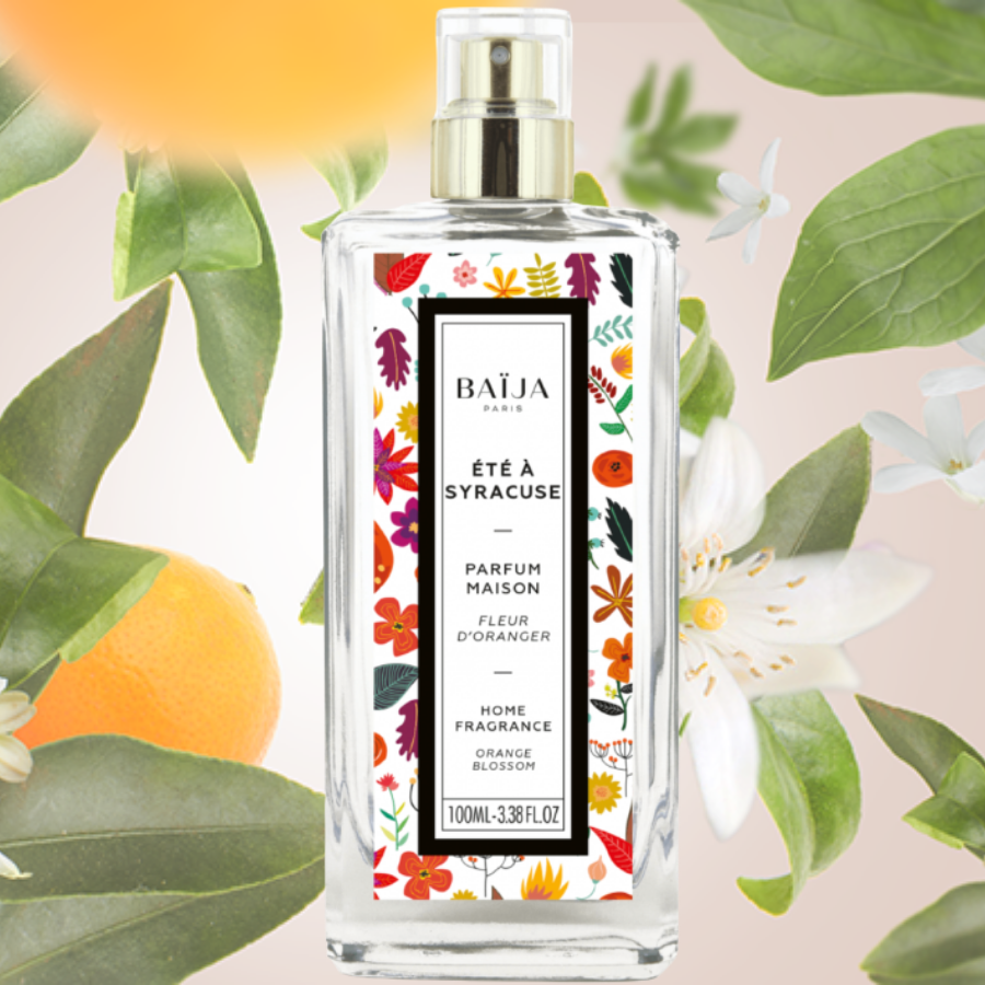 Parfum d\'intérieur Baija - Fleur d\'oranger - Été à Syracuse
