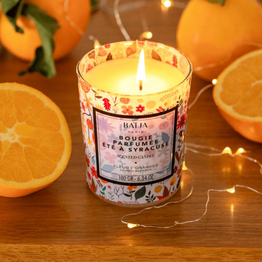 Bougie parfumée Baija - Fleur d\'oranger - Été à Syracuse
