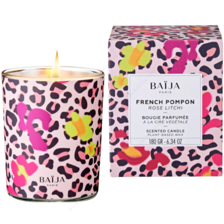 Bougie parfumée Baija - Rose et Litchi - French Pompon