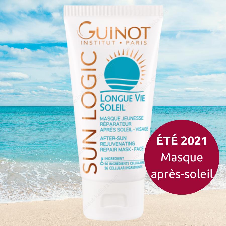 Longue Vie Soleil Guinot - Masque Jeunesse Réparateur Après-Soleil Visage