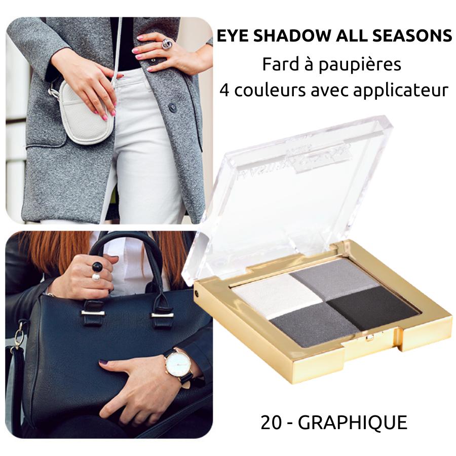 Fard à paupières 4 couleurs : Eye shadow all seasons - Masters Colors - 20 Graphique