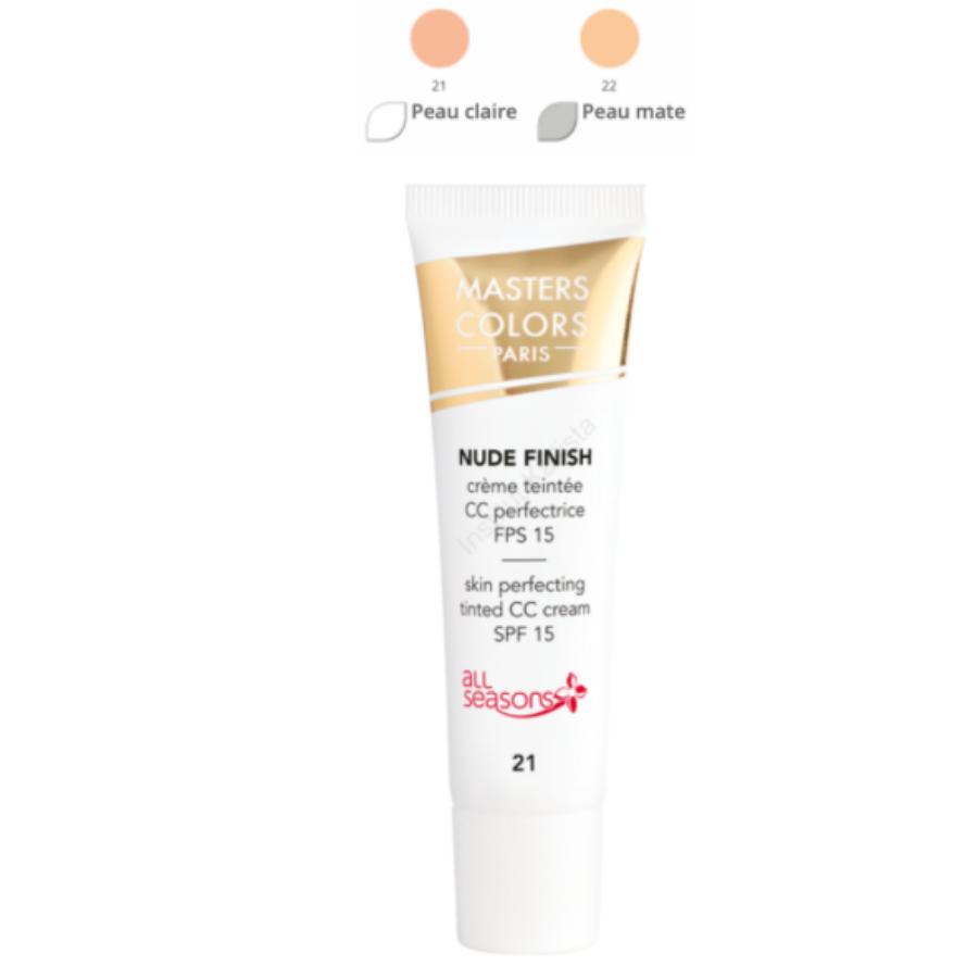 Masters Colors Crème Teintée - CC Crème perfectrice SPF15 : Nude Finish, teintes au choix pour un résultat naturel et uniforme