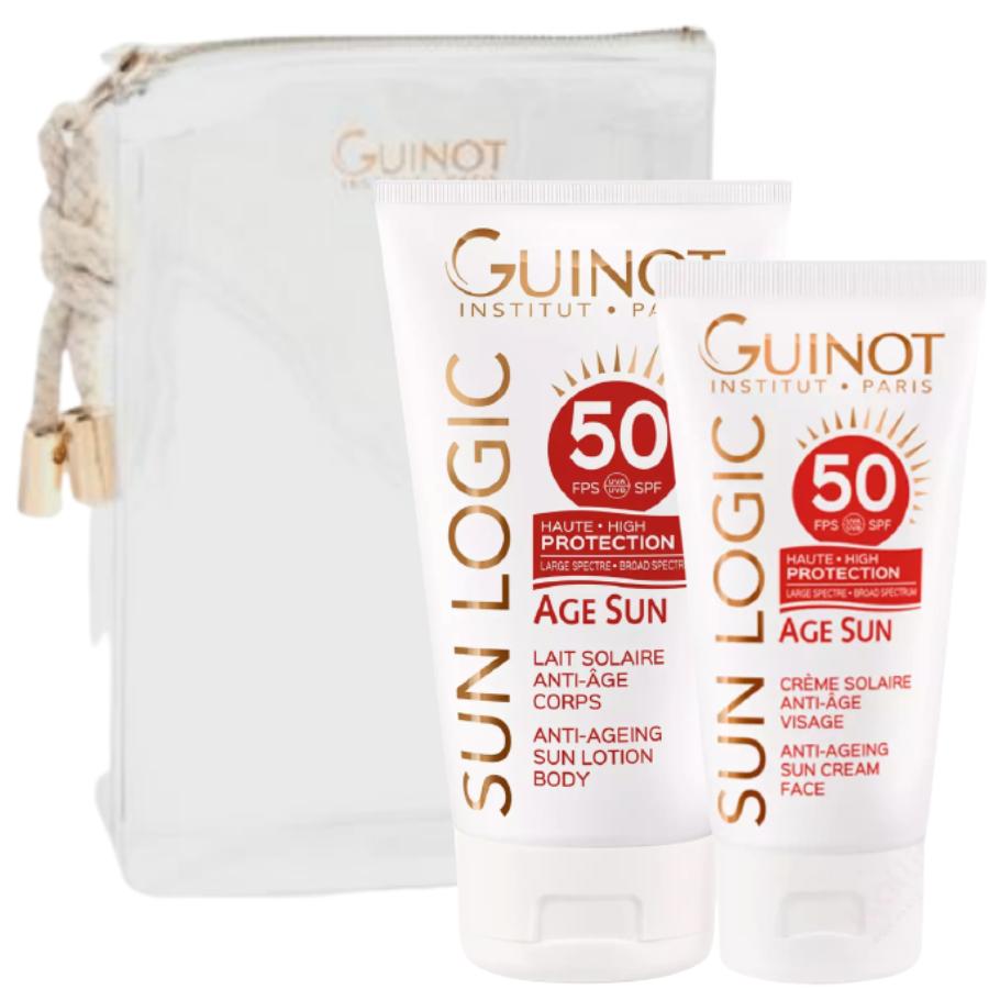 Trousse duo Âge Sun Guinot - Protection Solaire Visage & Corps