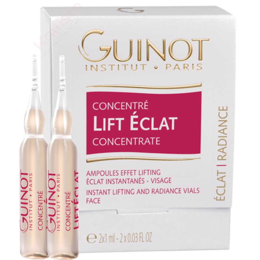 Concentré lift éclat Beauté Guinot - Ampoules visage liftantes