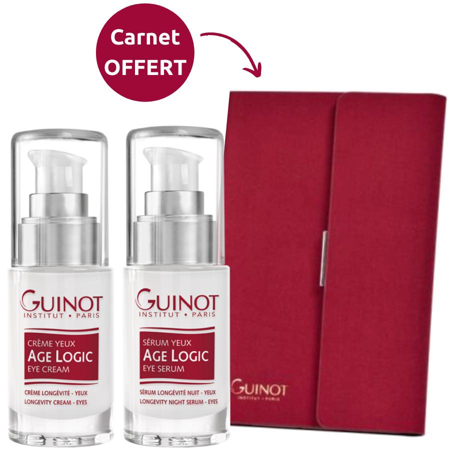 Pack Premium contour des yeux Guinot Duo Âge Logic yeux : Crème et Sérum