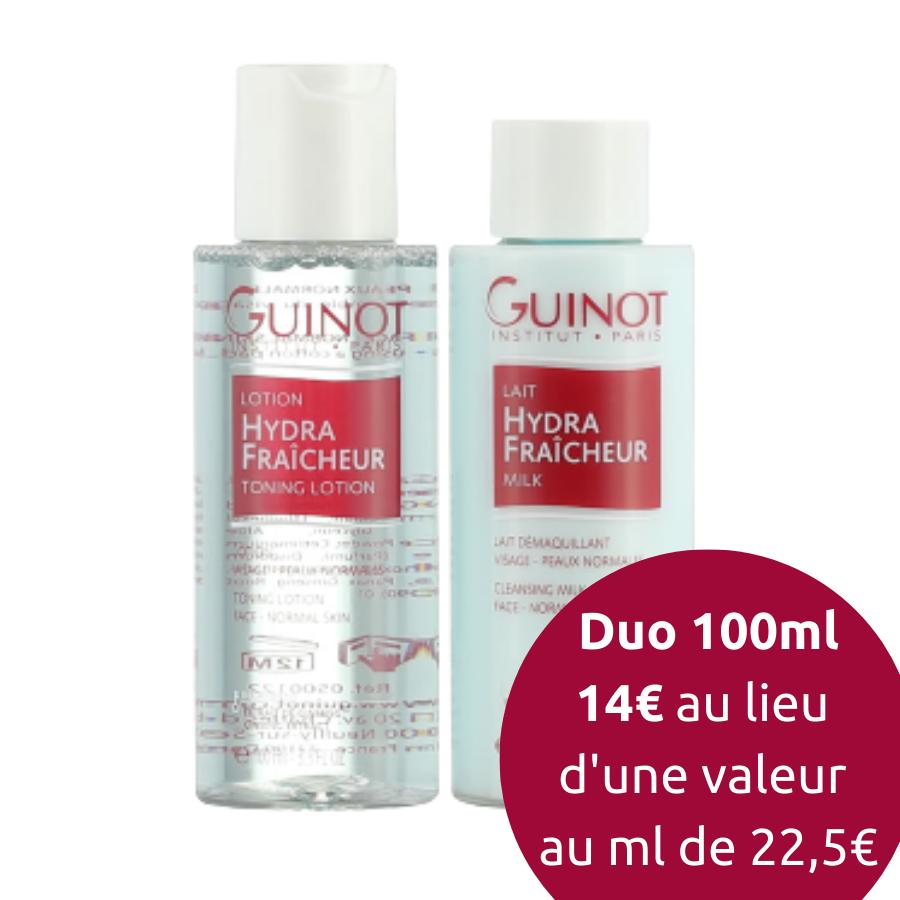 Duo Démaquillant Fraîcheur 100ml Guinot - Lait & Lotion