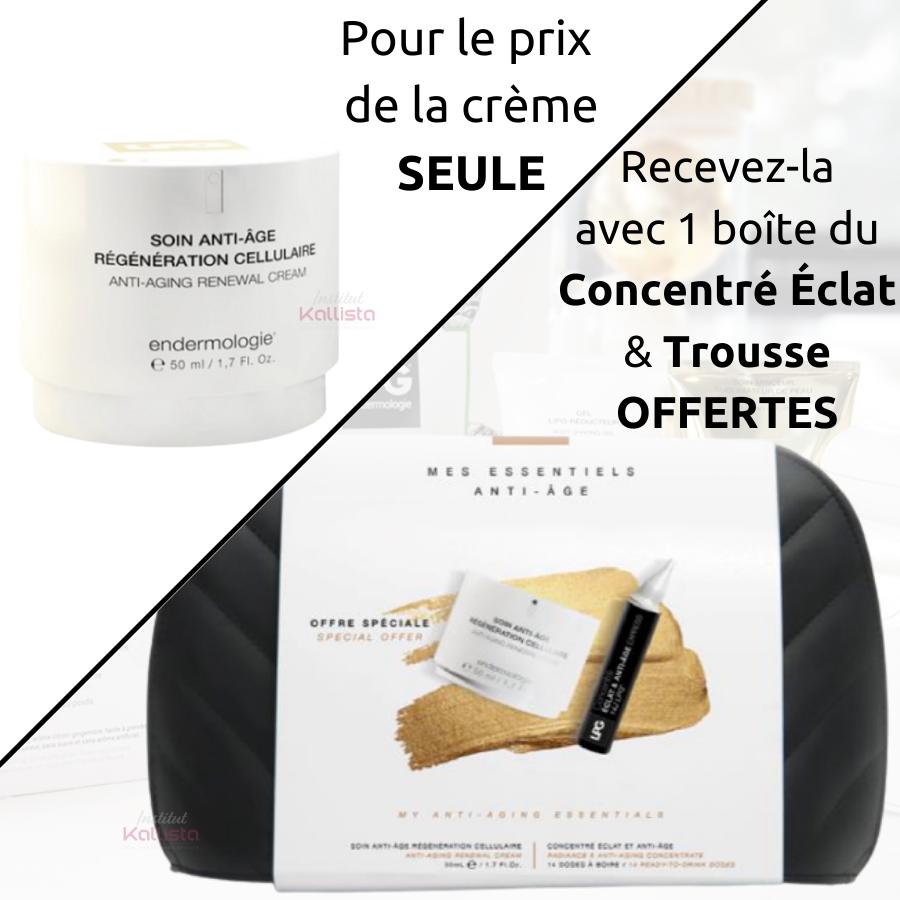 Soin Anti-Âge Régénération Cellulaire LPG - Concentré Éclat & Trousse OFFERTS