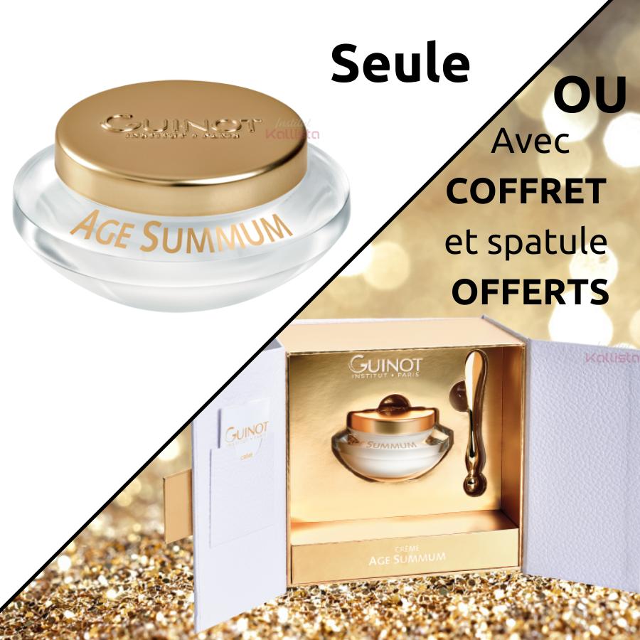 Âge Summum Guinot - Crème visage premium jeunesse - OFFRE SPÉCIALE en coffret avec spatule