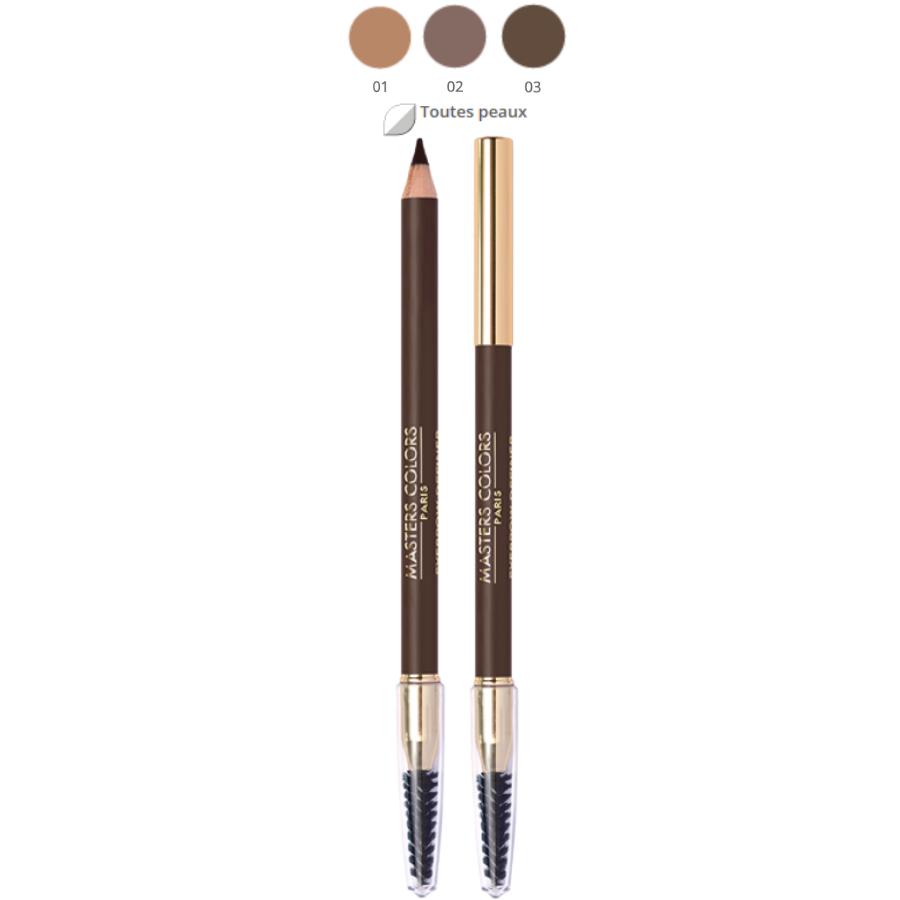 Crayon sourcils Masters Colors - crayon avec brosse : Eyebrow definer, 3 teintes au choix