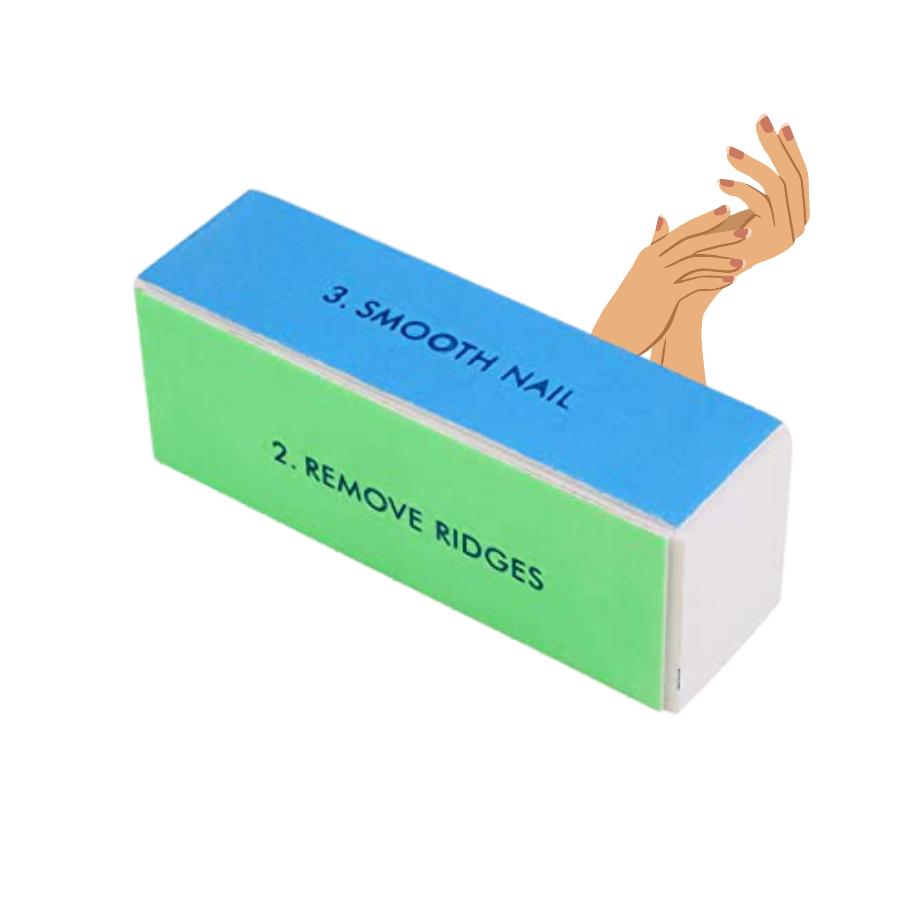 Bloc polissoir ongles - 4 faces, qualité professionnelle