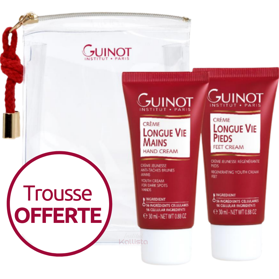 Trousse Duo Mains & Pieds Longue Vie Guinot - 2x30ml