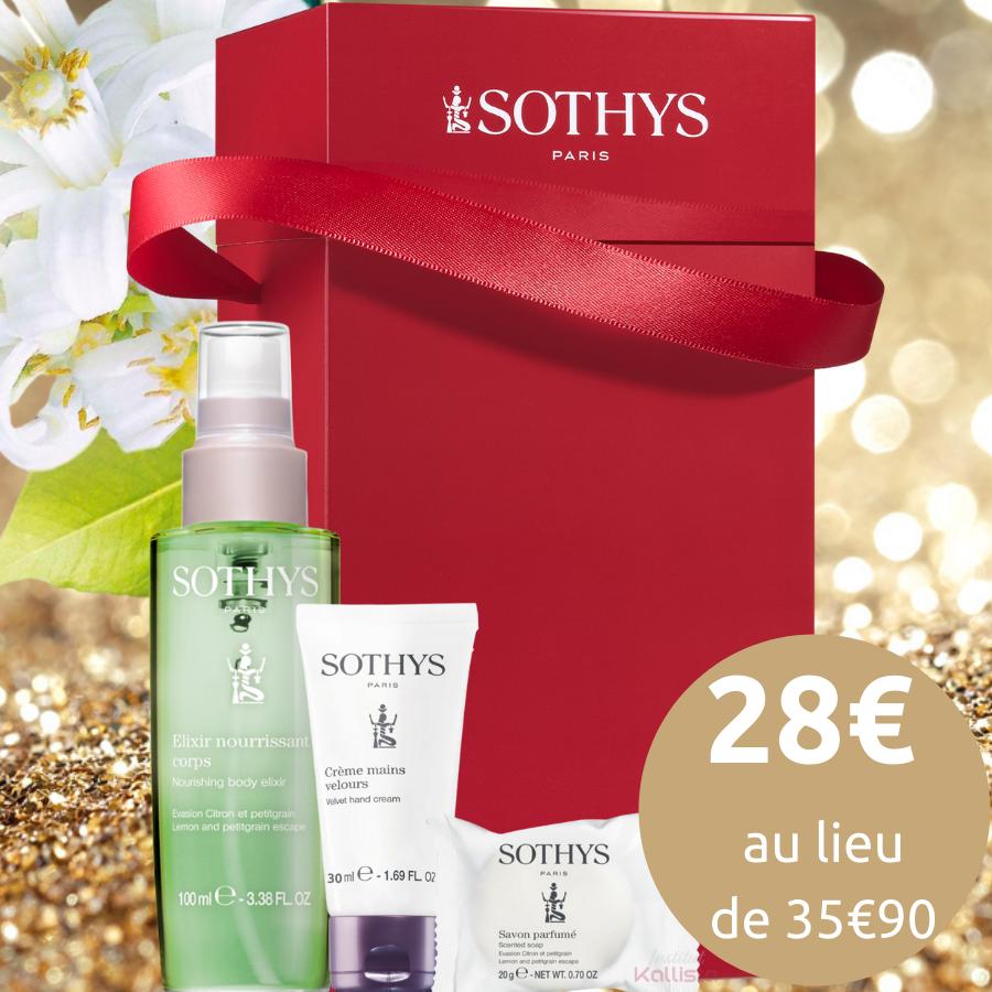 Coffret Corps Sothys - Citron et Petitgrain - Elixir, Crème mains & Savon