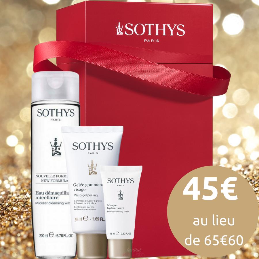 Coffret Visage Sothys - Gelée gommante, Masque Hydra-Lissant & Eau micellaire