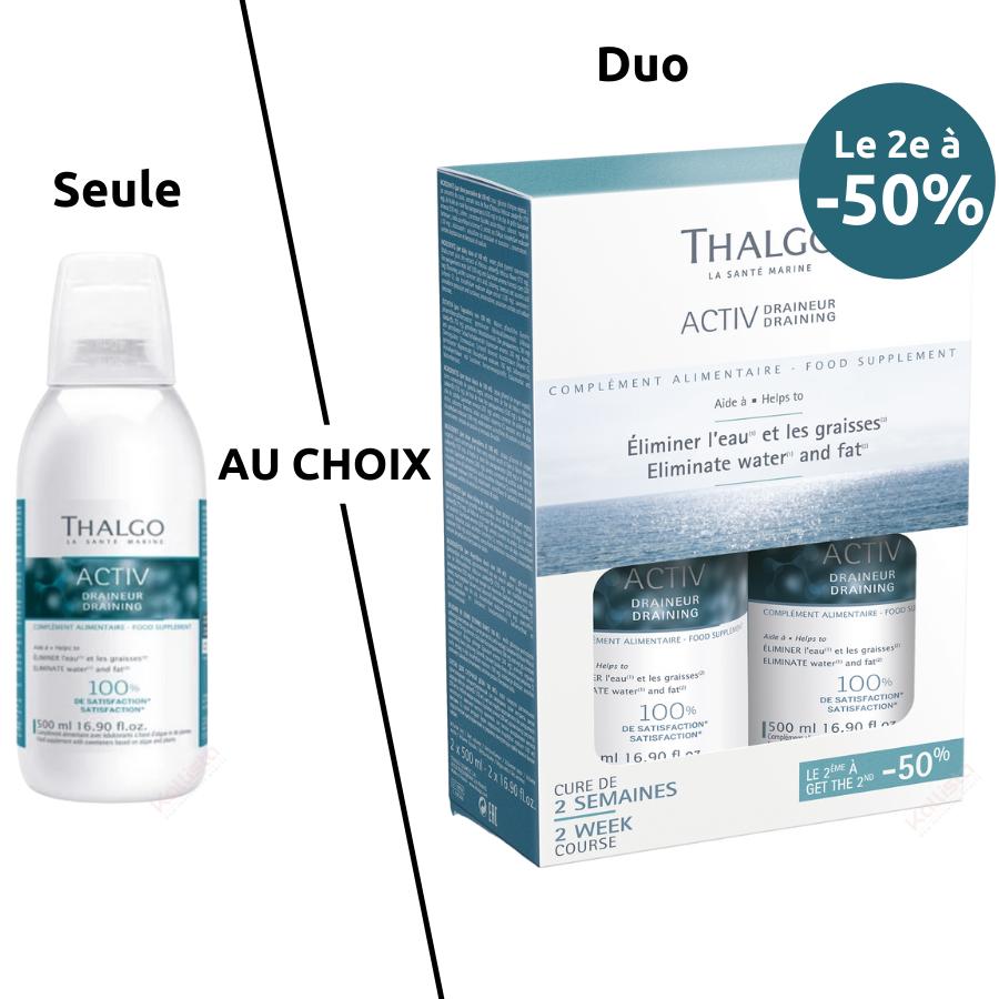 Thalgo Activ Draineur - Complément alimentaire éliminant l\'eau et les graisses - Nutri-cosmétique