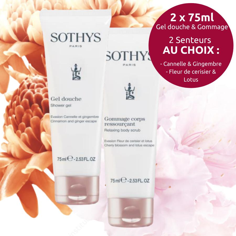Duo Corps Sothys - Gel de douche & Gommage 75 ml - 2 senteurs au choix