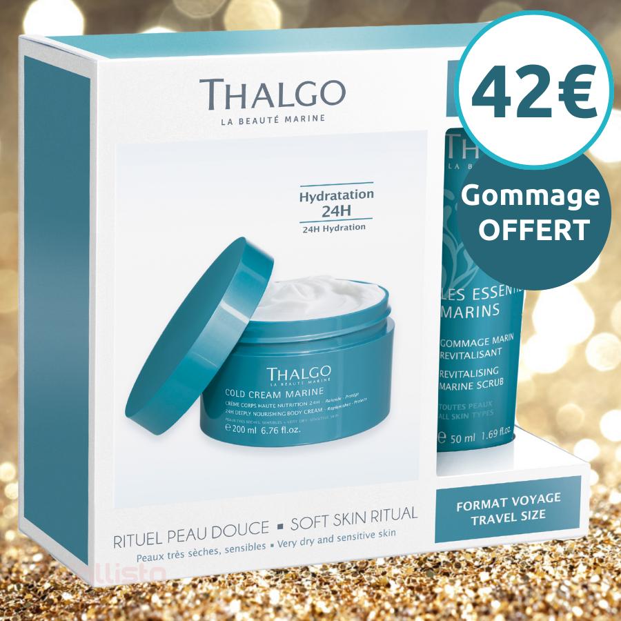 Thalgo Cold Cream Marine Crème Corps - Haute Nutrition 24h : Relipide, protège, peaux très sèches, sensibles