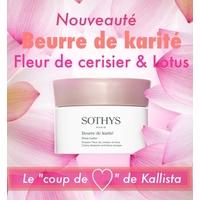 Beurre de Karité - Fleur de cerisier et Lotus Sothys : 100% karité ultra-hydratant aux notes fleuries poudrées de la marque Sothys