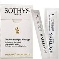 Double masque anti-âge Sothys : Masque visage lissant 2-en-1de la marque Sothys