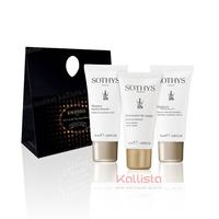 Set de 3 produits voyage VISAGE Sothys - Nettoyant doux, Masque hydratant et Sérum hydratant