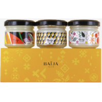 Coffret Trio Bougies Baija - Yellow Mood
