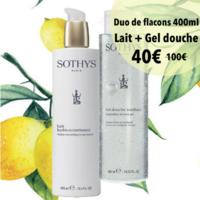 Lait corps Sothys hydra-nourrissant: hydratation et nutrition