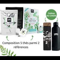 Pack 5 thés minceur LPG à composer : thé glacé détox bio et/ou thé bio minceur express, gourde ou infuseur offert