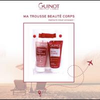 Trousse de voyage soin corps: gommage et baume Guinot en format 50ml
