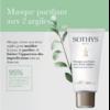 Masque absorbant Sothys - Masque purifiant aux deux argiles