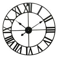Horloge murale 60 cm Analogiques Noir