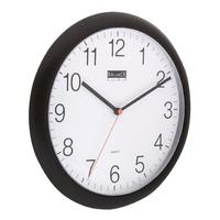 Horloge murale 25 cm Analogiques Noir
