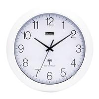 Horloge murale Radio-contrôlée 30 cm Analogiques Blanc / Argent