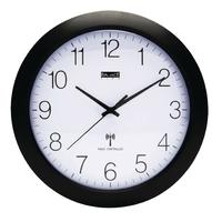 Horloge murale Radio-contrôlée 30 cm Analogiques Blanc / Noir