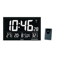 Horloge murale Radio-contrôlée LCD Noir