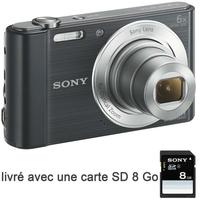 APN SONY Pack DSC-W810 noir + SD 8Go