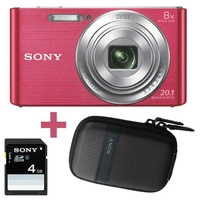 "Sony Cyber-shot DSC-W830 - appareils photos numériques (Auto, Nuageux, Lumière de jour, Flash, Fluorescent, Incandescent, Plage, Feux d'artifices, Paysage, Portrait de nuit, Pet, Neige, Auto, Film, Scene, Batterie/Pile, Appareil-photo compact, 1/2.3"")"