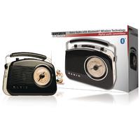 Radio portable Bluetooth AM / FM AUX Noir