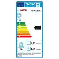 Bosch HBG672BW1F four - fours (Moyenne, Intégré, Electrique, A+, Blanc, senseur) [Classe énergétique A+]