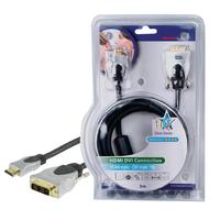 Câble HDMI High Speed Connecteur HDMI - DVI-D 18+1p Mâle 3.00 m Gris foncé