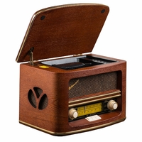Radio en bois 'Retro Design' CD / mp3 / wma Roadstar HRA-1500MP