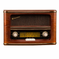 HRA-1500/N Radio de Style Retro Vintage en Ebénisterie Bois Tuner