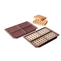 Kit 2 moules à gaufres en silicone Domoclip MEN251