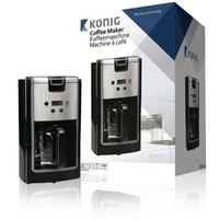 Machine à café 900 W 12tasses Noir / Argent