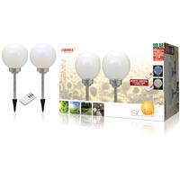 Borne LED solaire de jardin 4 LED 2