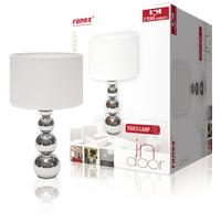 Lampe de table Fonction tactile 40 W Chromé / Blanc